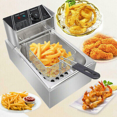 2.5kw Electric Deep Fryer Commercial Countertop Basket French Fry Restaurant 6l