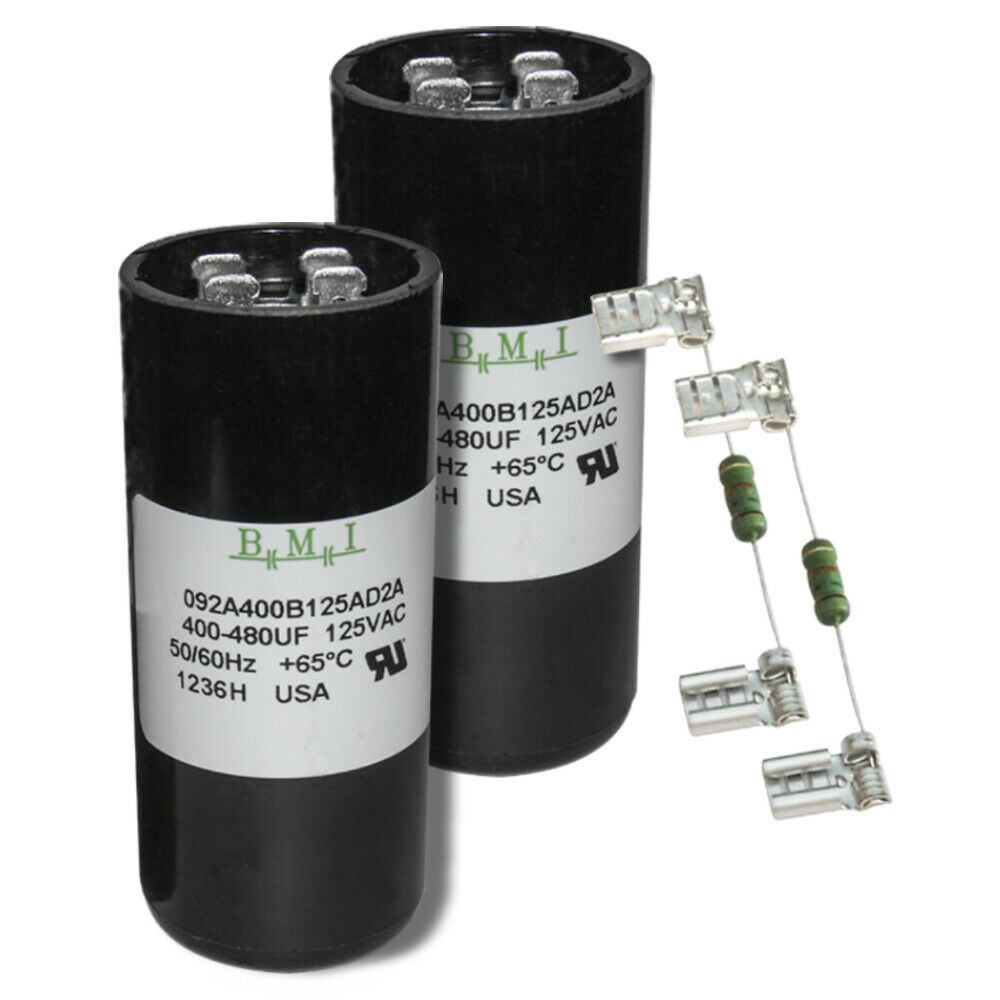 400-480 uF x 110//125 VAC BMI Start Capacitor # 092A400B125AD2A Made in The USA