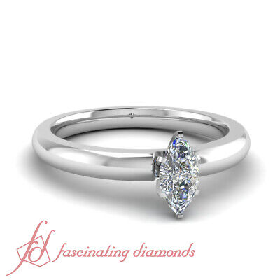 .65 Carat Marquise Shaped Diamond Solitaire Wedding Ring For Women GIA VVS1
