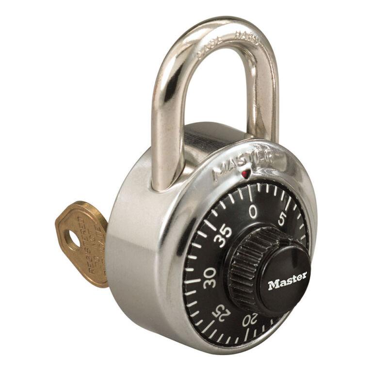 Master Lock Combination Padlock 1525 Lock & OEM Original Master Control Key
