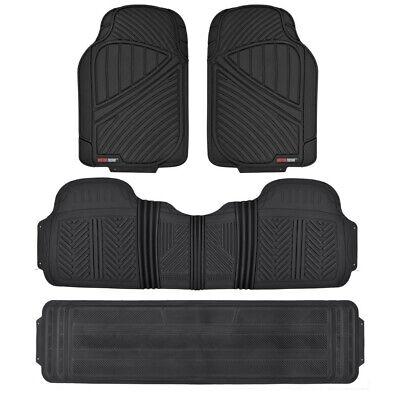 Black 4pc Rubber Floor Mat Car SUV Heavy Duty All Season Mats Liner BPA FREE Black Auto Floor Mat