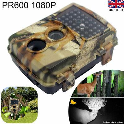 12MP 1080P HD Trail Wildlife Night Vision Camera Trap Hunting Game Cam PIR UK