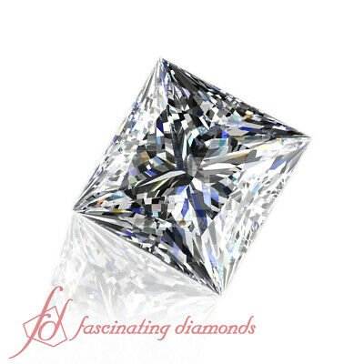Non - Treated Diamonds For Sale - 1/2 Ct Princess Cut Affordable Loose Diamond