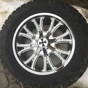 305/55R20 tires and rims