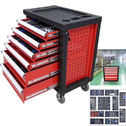 220tlg Werkstattwagen mit Werkzeug Schubladen gefüllt Werkzeugwagen Werkzeugkist