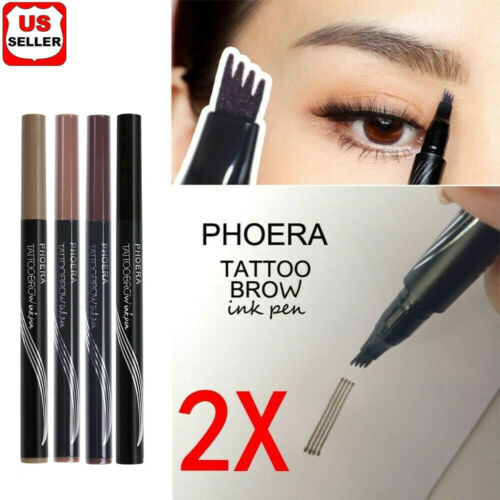 2Pcs Patented Microblading Tattoo Eyebrow Ink Pen Eye Brow Makeup Pencil SR48 Eyebrow Liner & Definition