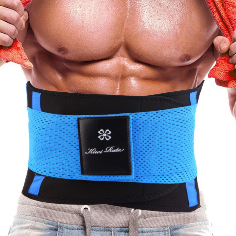 Mens Boned Waist Trainer Trimmer Slimming Belt Hot Sauna Swe