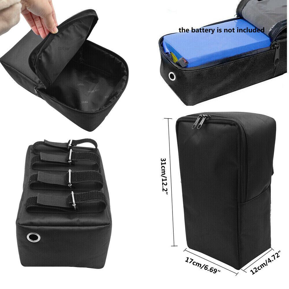 Electric Bike Case Bag Storage Bicycle Ebike PVC Li-lon battery Scooter S M L