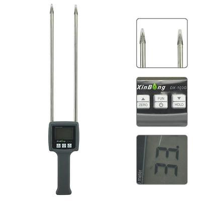 Portable Grain Moisture Meter Wheat Corn Beans Rice Oats Paddy Tester Dx-103g