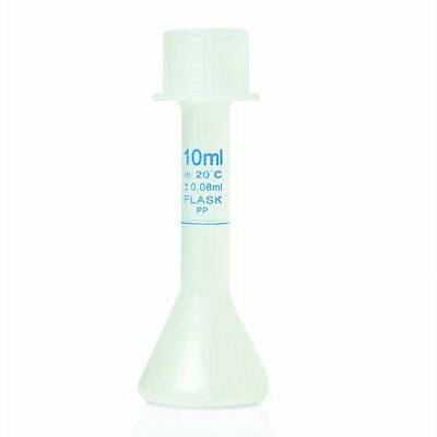10ml Graduated Volumetric Flask Pp With Screw Cap. Karter Scientific 229m4
