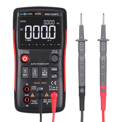 Rm409b True-rms Digital Multimeter Acdc Voltage Ammeter Current Tester