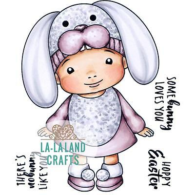BABY Girl Easter Cling Unmounted Rubber Stamp Set La La Land Crafts 5343 New