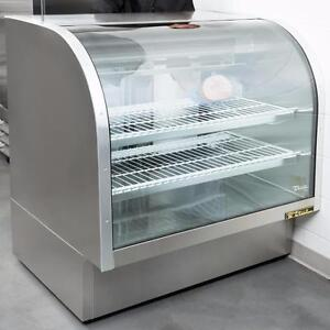 "True TCGG-48-S-LD 48"" Stainless Steel Curved Glass Refrigerated Deli Case - 23.5 Cu. Ft."