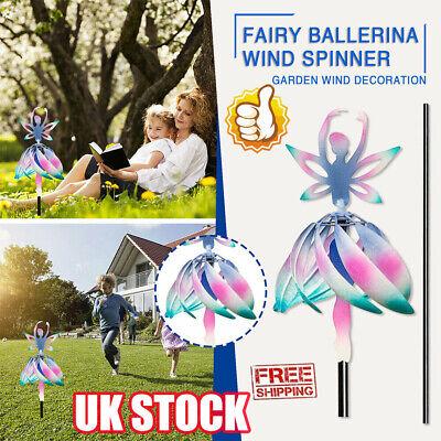 Wind Spinner For Outdoor Decor Fairy Ballerina Wind Spinner Patio Garden LK