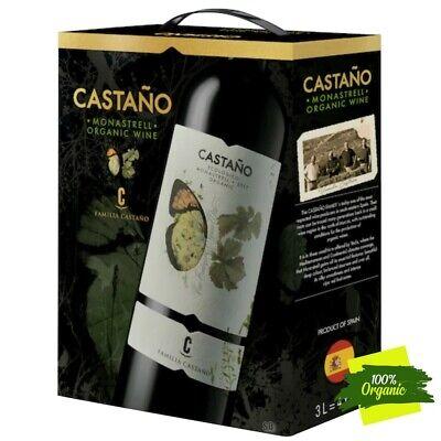Castano Monastrell Ecologico Organic BIO Rotwein Bag in Box BiB 13,5% vol 300cl