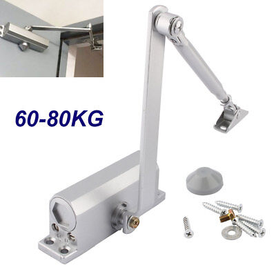 60-80kg Aluminum Commercial Door Closer Two Independent Valves Arm Control Sweep