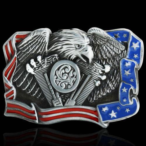 Mens American Badge Eagle Western Cowboy Vintage Belt Buckle Alloy Metal 38-40mm