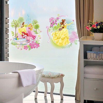 Disney Princess Wall Sticker Home Nursery Girls Room Decor Art Mural Vinyl Decal
