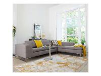 Dwell Toleda Left Hand Corner Sofa Light Grey | RRP £1499