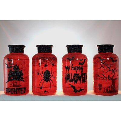 HLW6219 Lighted Glass Vase Halloween Scene Table Decoration Night Light Lamp](Halloween Hlw)