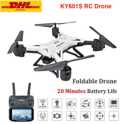 KY601S RC Drone Remote Control Quadcopter Mit Kamera HD 1080P Faltbar Drohne WHI