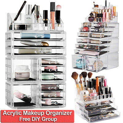 New Acrylic Cosmetic Organizer Makeup Case Holder Drawer Jewelry Storage Box DIY