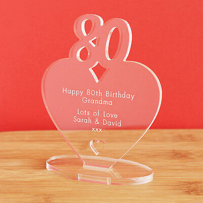 80 Th Birthday Ideas (80th Birthday Personalised Milestone Heart Keepsake Gift Idea for HIM OR)
