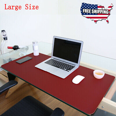 Non Slip Dual Side Pu Leather Desk Pad Keyboard Mouse Protector Mat 47x23.5