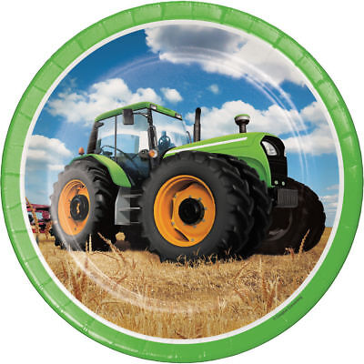 John Deere Inspired Tractor Time Dinner Plates Birthday Party Supplies