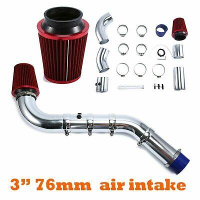 Car Cold Air Intake Filter Alumimum Induction Kit Pipe Hose System Set Universal