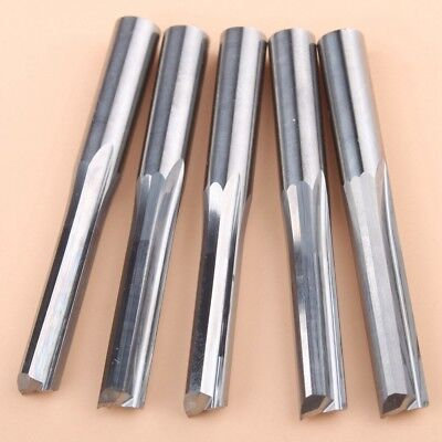 5pcslot 625 Two Straight Flute Mills Wood Cutter Tools Cnc Router Blade