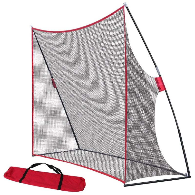 10 x 7Ft Professional Golf Hitting Net For Training Aids Practing W/Carring Bag