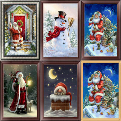 Snowman Christmas DIY 5D Diamond Painting Embroidery Cross Stitch Home Decor