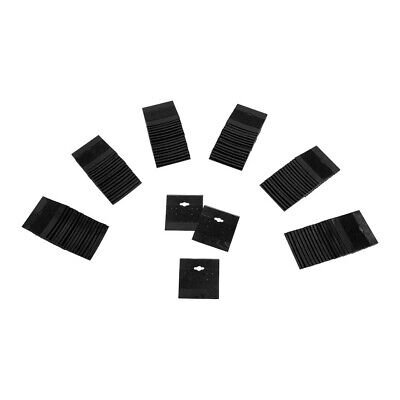 "100PC 2"" x 2"" BLACK Plastic Earring Card Display Hang Jewelry Plain Cards Retail"