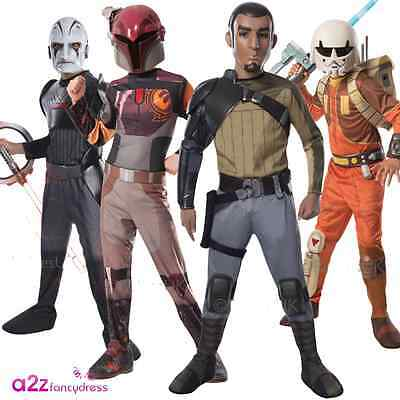 KIDS STAR WARS REBELS TV ANIMATED DISNEY FANCY DRESS COSTUME JUMPSUIT