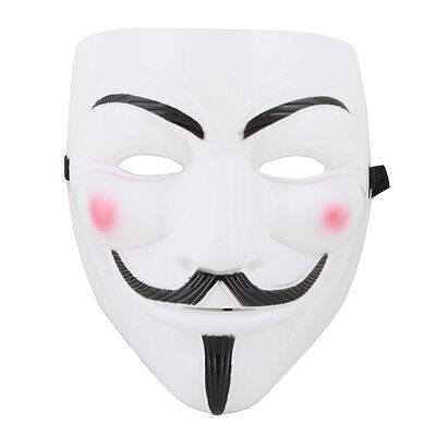 V For Vendetta Mask Fawkes Purge Anonymous Costume Mask Wall Street Costume - V For Vendetta Mask Costume