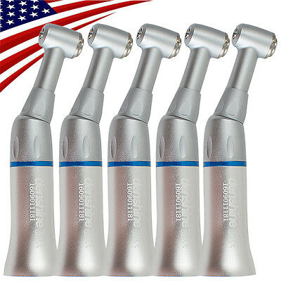 5x Dental Low Speed Push Button Handpiece Contra Angle E-type Denshine Fit Nsk