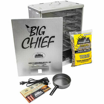 Smokehouse Big Chief Front Load Cooking BBQ Electric Wood Chip Smoker Grill