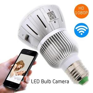 HD 720P Bulb CCTV Camera Lamp Security Motion Detector Ampoule