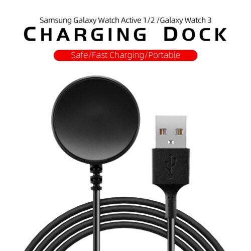 For Samsung Galaxy Watch3 Active 2 Wireless Magnetic Charger Charging Cable Dock