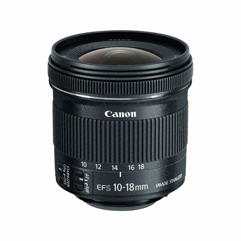 Canon EF-S 10-18mm f/4.5-5.6 IS STM Ultra-Wide Zoom Lens Black 9519B002