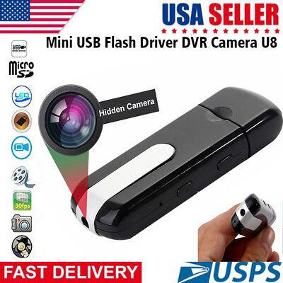 USB Disk SPY Camera Camcorder Mini Hidden DV DVR Motion Activated Detection U8 - Motion Activated Usb Camera