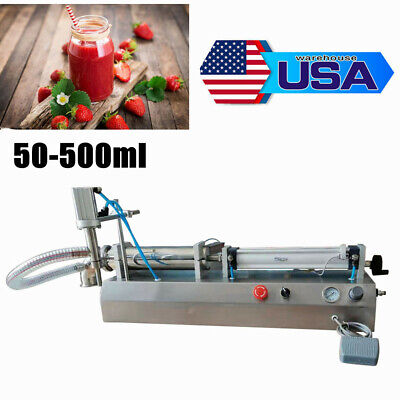 Usa 50-500ml Pneumatic Liquid Filling Machine Semi-automatic Single Head Filler