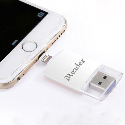 Apple External Reader Micro SD TF Memory Card Lightning For iPhone X 8 6s 7 iPad