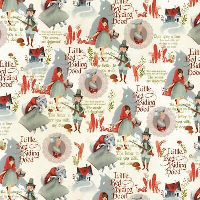 Jersey, Baumwolljersey, Meterware ab 25cm, Little Red Riding Hood - White