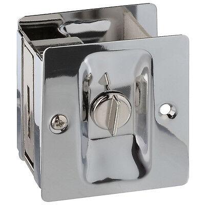 Chrome Pocket Door Hardware - National Hardware N326-298 Pocket Door Latch, Solid Brass, Chrome Plated