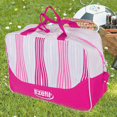 Reise Kühl Box Nylon Thermo Beutel pink Picknick 20 Liter Flaschen Kühler Tasche