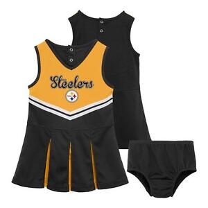 Pittsburgh Steelers NFL Toddler Girl 2 - Piece Cheerleader Dress Outfit 4T - NWT