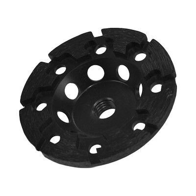 4 Black T Segment Grinding Diamond Cup Wheel Concrete Grinder 58 - 11 Arbor