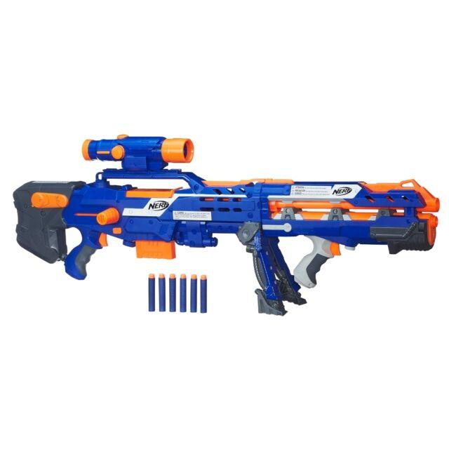 Nerf N-Strike Elite Long Shot CS-6 Blaster, Kids Indoor Outdoor Blaster Toy Gun